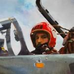 ©RocheGardies. Rémi, chevalier du ciel huile sur toile 50x70cm - agrément peintre de l'air 2011