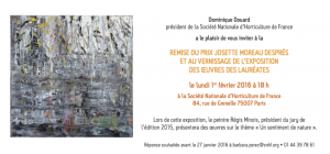 ©RocheGardies 2eme prix vernissage et remise du prix Josette Moreau Desprès 1er fev 2016