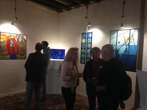 ©RocheGardies peintre ateliers loire  vernissage Exposition Chartres en vitrail  galerie du vitrail 2016 Pierre Carron, Didier Sancey, Tetsuo Harada,  Antoine Vincent , Leslie Xuereb.7