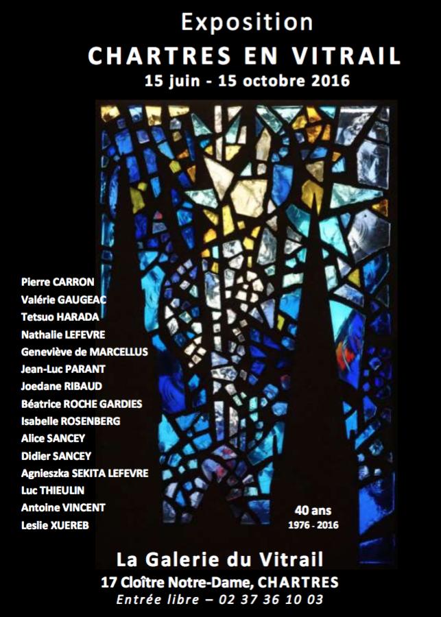 ©RocheGardies peintre ateliers loire  Chartres en  vitrail 2016 Pierre Carron, Didier Sancey, Tetsuo Harada,  Antoine Vincent , Leslie Xuereb